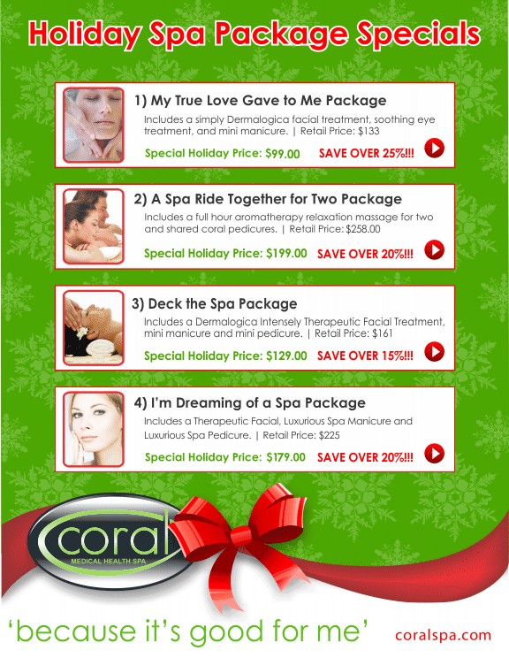 Christmas Spa Packages.Holiday Christmas Spa Packages In Windsor Ontario