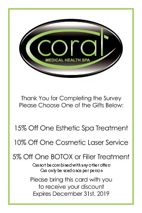 Thank You for Completing the Survey - Coral Medical Health Spa